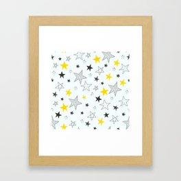 Many stars Framed Art Print