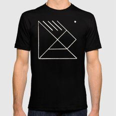 TANGRAM X-LARGE Black Mens Fitted Tee