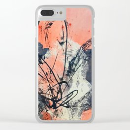 Perennial: abstract floral painting by Alyssa Hamilton Art Clear iPhone Case