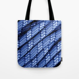 climbing rope texture blue  Tote Bag