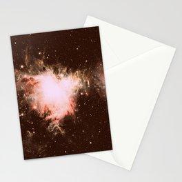 Orion Nebula Peach Beige Gray Stationery Cards