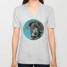 Great Dane Dog Portrait Unisex V-Neck