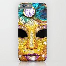 Golden Carnival Mask iPhone Case