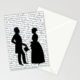 Pride and Prejudice design - White Stationery Cards