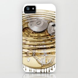 Liquefied clockwork iPhone Case
