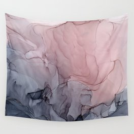 Blush and Gray Flowing Ombre Abstract 1 Wall Tapestry
