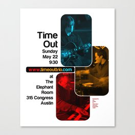 TIME OUT, THE ELEPHANT ROOM - AUSTIN, TX Canvas Print