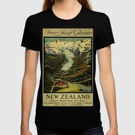 Franz Josef Glacier Vintage Travel Poster T-shirt
