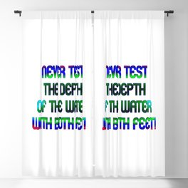 """""""Test The Water"""" Funny Expression in Bold Color Blackout Curtain"""