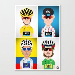 Tour de France 2016 Jerseys Canvas Print