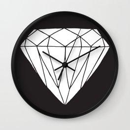 White diamond Wall Clock