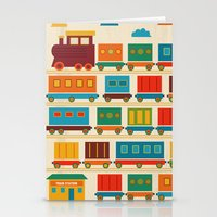 train Stationery Cards featuring Train by Kakel