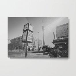Berlin B&W Metal Print