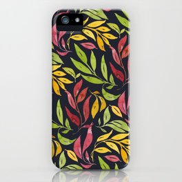 Loose Leaves - warm colors iPhone Case