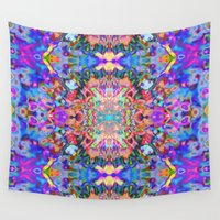 trippy Wall Tapestries featuring TRIPPY by IZZA