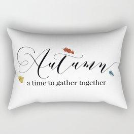 Autumn - a time to gather together Rectangular Pillow
