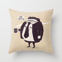 quotes Throw Pillows featuring Quotes by Ronan Lynam