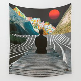 Waiting for Ice Cream Mountains Wall Tapestry