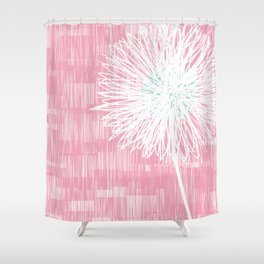 Pink Doodle Floral by Friztin Shower Curtain