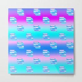 Digital Cubes Pattern Metal Print