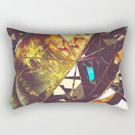 Fractured Time Rectangular Pillow