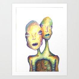 Two Headed Boy Art Print