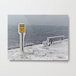 Blizzard at Spring Point Ledge Lighthouse, Maine (2) Metal Print