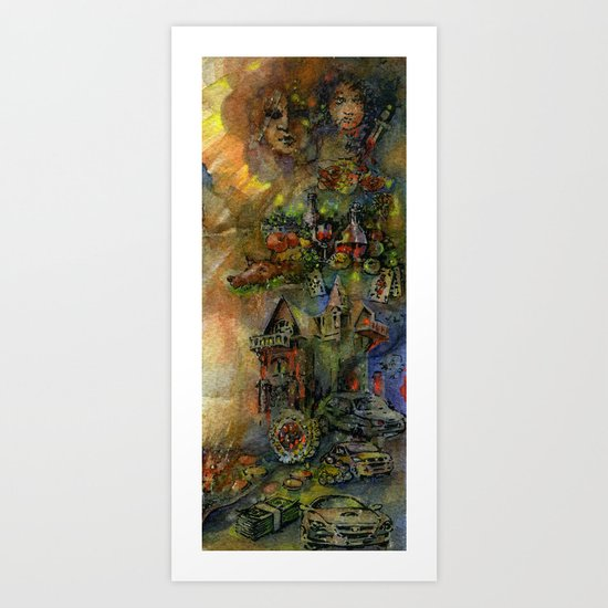 Worldly wealth Art Print