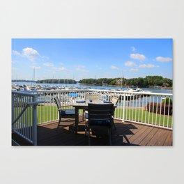 Deck View Canvas Print