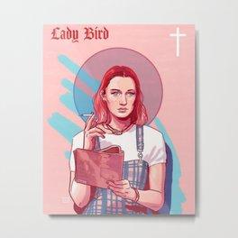 Lady Bird Pink Metal Print