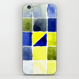 Color Chart - Lemon Yellow (DS) and Cobalt Blue (DS) iPhone Skin