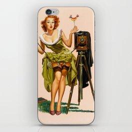 Vintage Camera Pinup girl  iPhone Skin