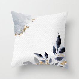 Shimmering Leafy Background Illustration Throw Pillow