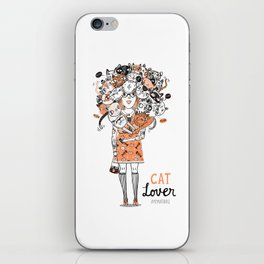 Cat lover  iPhone Skin