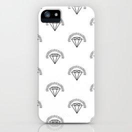 Diamonds - Black iPhone Case