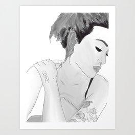 Princess Asami Art Print