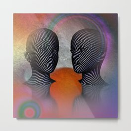 talking together -2- Metal Print