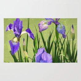 Wild Blue Flag Irises Rug
