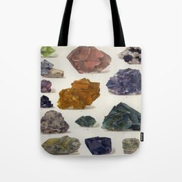The Mineral Kingdom by Dr. Reinhard Brauns, 1903. Germany. Beautiful Gems Mineral Jewels Tote Bag