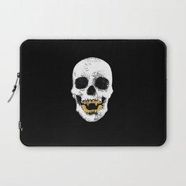 Snake Skin Skull Laptop Sleeve