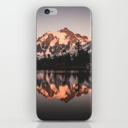 Alpenglow - Mountain Reflection - Nature Photography iPhone Skin