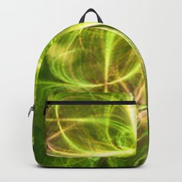 Abstract Lines Green Clover Shape Backpack