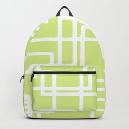 Retro Modern White Rectangles On Pale Grape Backpack