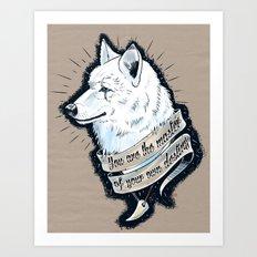 Wolf Protector Art Print