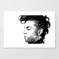 prince Canvas Prints featuring Prince by Maxeroo