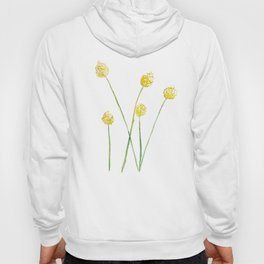 Yellow Billy Button Flowers Hoody