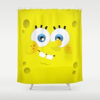spongebob Shower Curtains featuring SpongeBob by solostudio