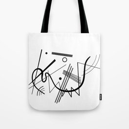 Kandinsky - Black and White Abstract Art Tote Bag