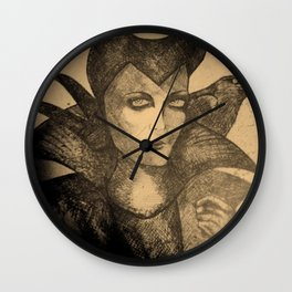 maleficent sketch Wall Clock
