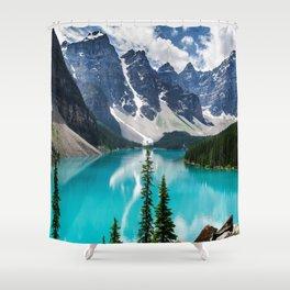 Lake Moraine Banff Shower Curtain